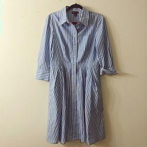 Jones New York Cotton Stripped Dress, Size 8